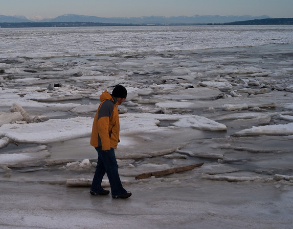 December 2008 - the winter that the Bay froze over.