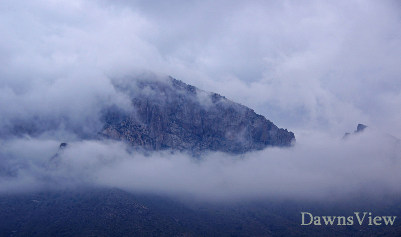 Cloud cover over the Catalina Mountains, Tucson, AZ