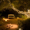 A pleasant nook to rest and enjoy the sights at Luminarias, Dec 2012.