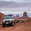 Touring Monument Valley in my FJ