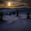 Fading light at White Sands