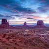 Monument Valley just after sunrise