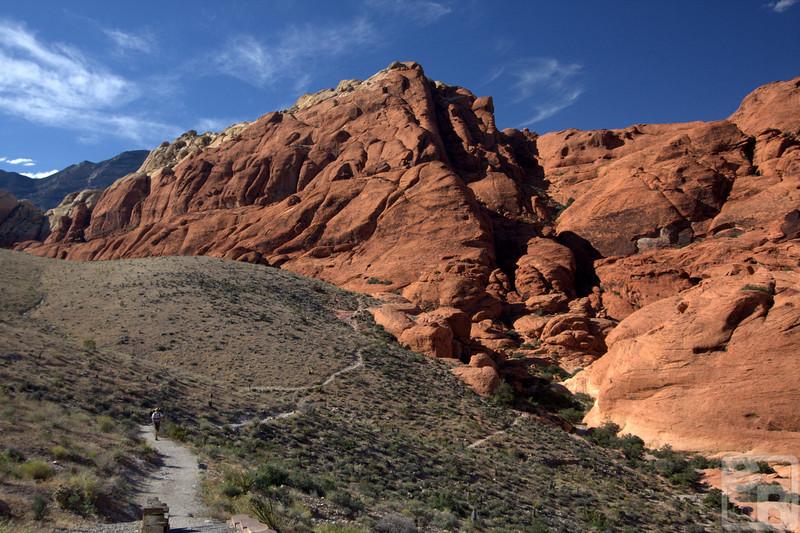 K hiking back up