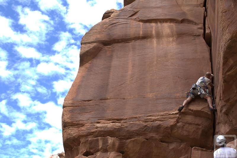 Cliff leading