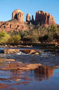 Reflection of Cathedral Rock in Sedona, Arizona