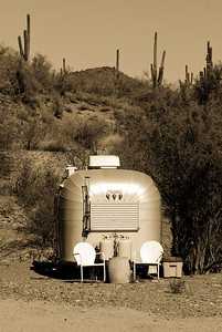 Avion Trailer in the Desert