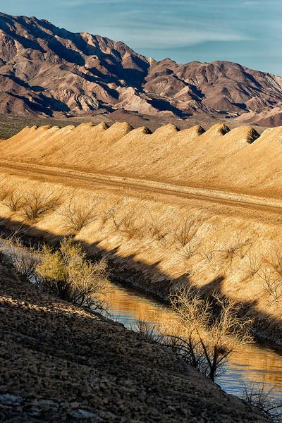 Mojave dry lake saltworks.