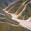 Mudstones formations of the rugged Golden Canyon in the Death Valley. California, USA.