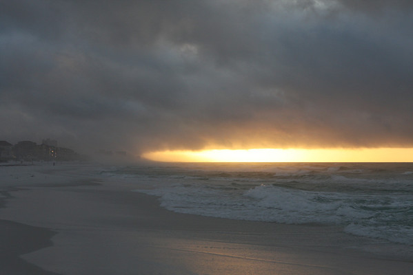 Sunrise through the storm clouds.
