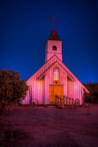 Old church at night, NM