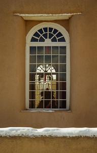 San Francisco de Asis Church window, NM