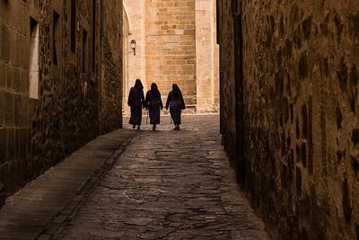 Three Sisters walking, Spain