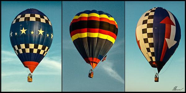 Hot air balloon triptych