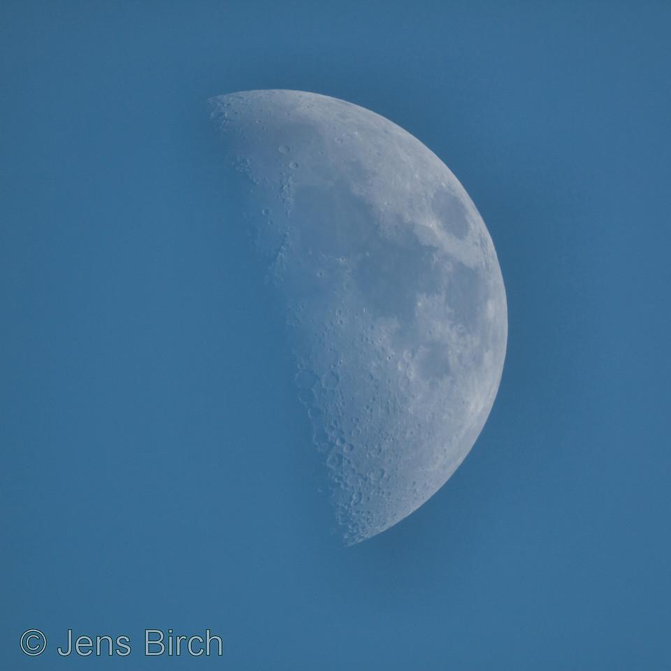 Afternoon moon, May 10, 2011