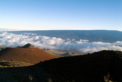 Cinder cones on route to the observatories on Mauna Kea