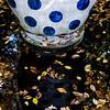 Kaneko sculpture in fountain at Dixon Gardens 11/17