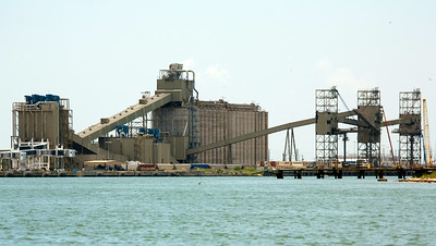 Large Galveston grain elevator