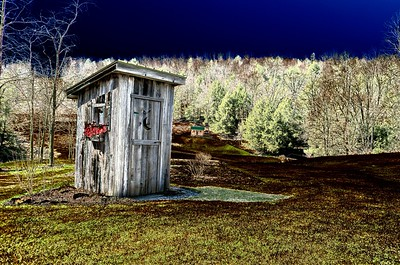 Outhouse with effect