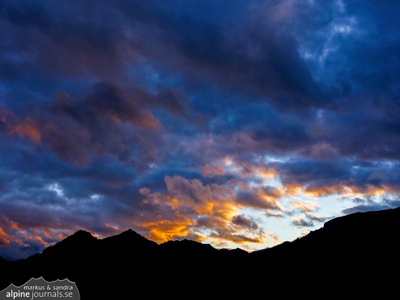 Last sunlight over Kleinwalsertal