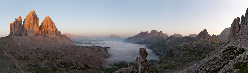 Südtirol Drei Zinnen Sonnenaufgang