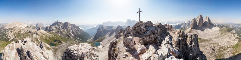 Südtirol Paternkofel mit Drei Zinnen