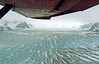 AK-1980.8#060.3. A view from a Cessna 180 flying out of a Sheep Camp looking up Tazlina Glacier in the Chugach Mountains of Alaska.