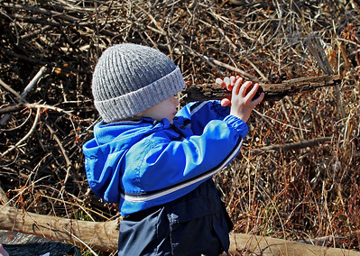 I took my 2 year old grandson, Jonathan, to take pictures of the eagles the other day. I looked over and he had picked up a stick, held it up like my camera, and started making the clicking sound my camera makes. He thought he needed to take some pictures also.