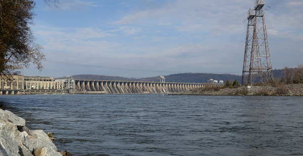 Conowingo Dam (MD), the largest privately owned hydro-electric dam in the US.