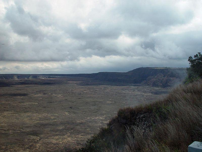 The main Caldera at the Kilauea volcano.