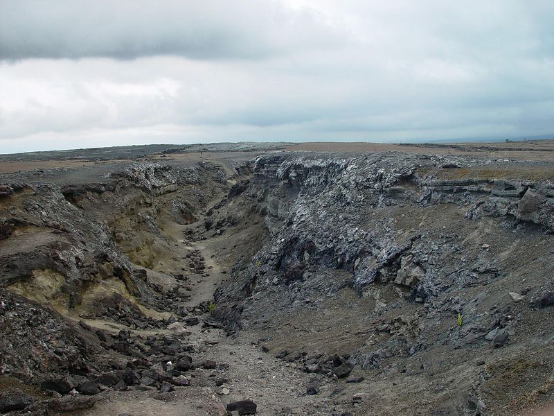 Part of the eastern rift zone that spawned some spectacular fireworks in September 1982.