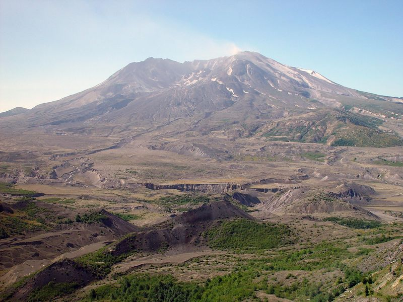 Mount St. Helens<br /> <br /> All of this dirt in the forground used to be part of the Volcano but was ejected into the valley.