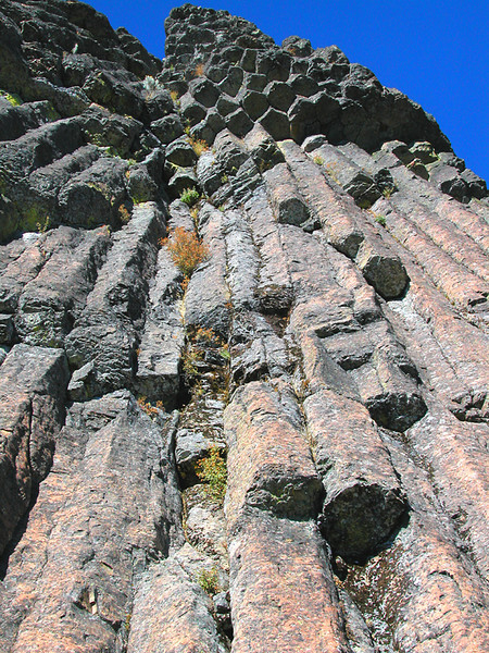 Hike 4: Andesite columns form the south face of Pilot Rock.