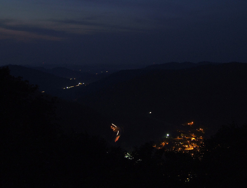 Night comes to the Mountains