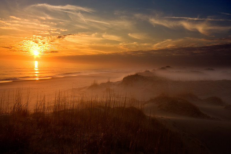 Sun vs Fog, Back Bay Nat'l Wildlife Refuge, VA