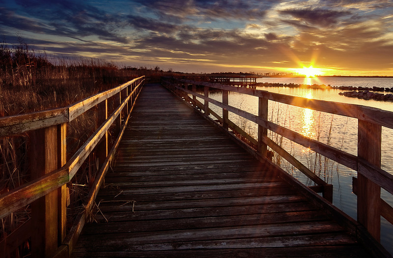 Boardwalk Sunset II , Back Bay Nat'l Wildlife Refuge, VA