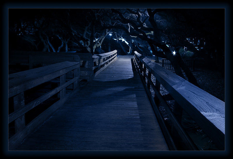 Night Path, Amelia Island Inn, FL.
