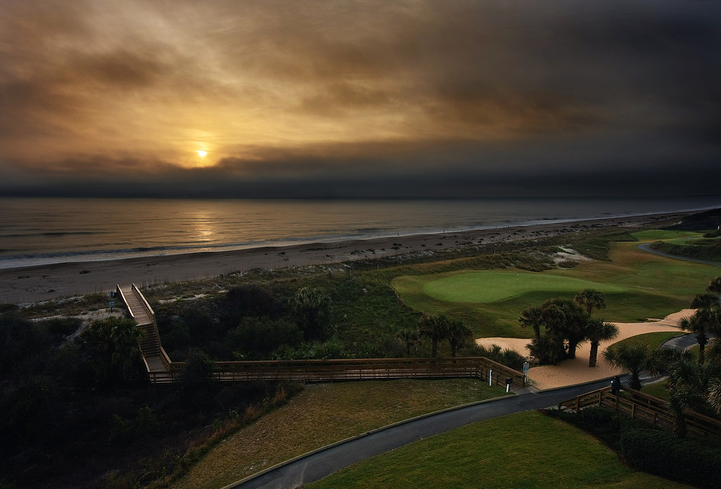 Stormy Sunrise, Amelia Island Plantation Resort, Florida.