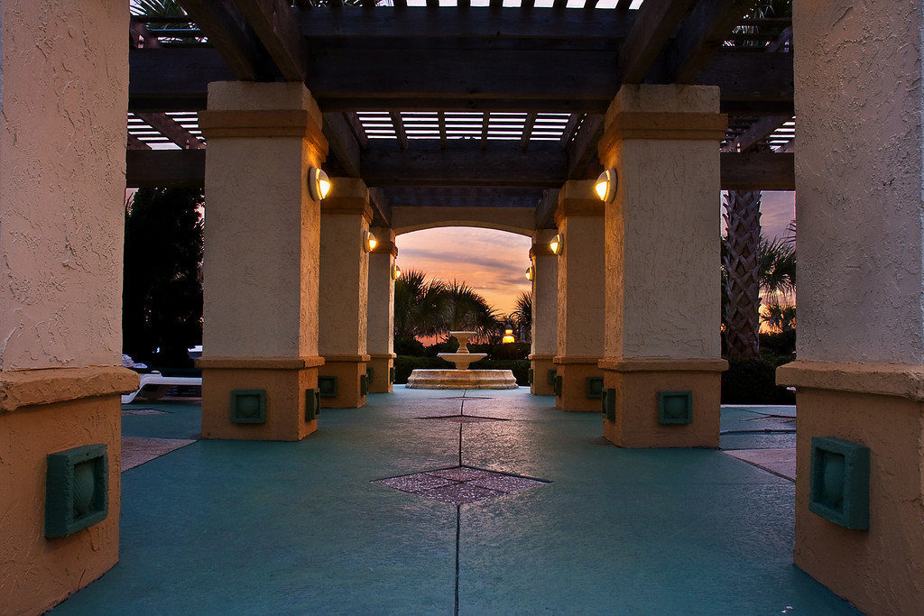 Pillars and Fountain, Amelia Island Plantation Resort, FA