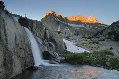 Sabrina Basin, Moonlight Falls sunrise. 15418