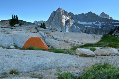 Campsite above Sailor Lake, Sabrina Basin 0706_5330