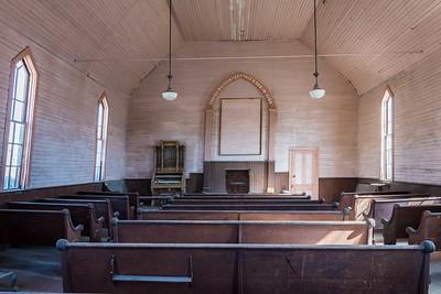 Inside of church.