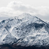 The Eastern Sierra during a clearning winter storm