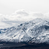 A snowy mountian in the Eastern Sierra as a winter storm clears