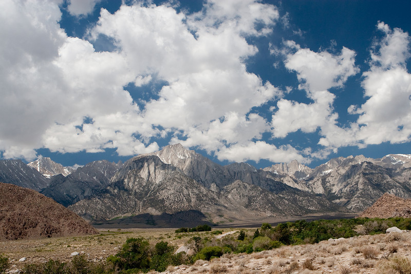 Whitney Portal Road<br /> Mount Versteeg and Mount Williamson<br /> Lone Pine