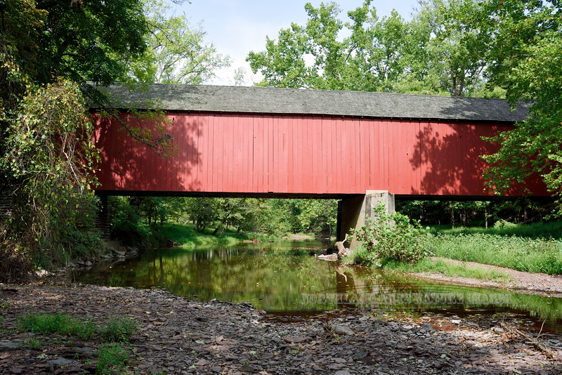 PA-CBF-2020.9.14#0233.2. The Frankenfield Covered Bridge over Tinicum Creek on Cafferty Road in Bucks County, Pennsylvania.