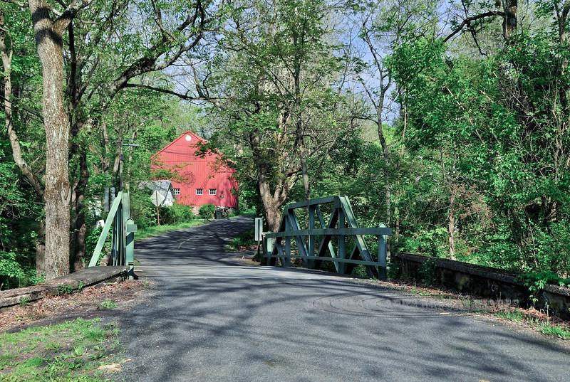 PA-2010.5.1#171.7. The pony truss Kintner Road Bridge over Gallow's Hill Creek. Kintner Rd., Kintnersville, Bucks County Pennsylvania.