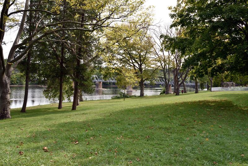 PA-WC19-2020.9.15#0685.1 A view of the Delaware river. Washington Crossing, Bucks County Pennsylvania.