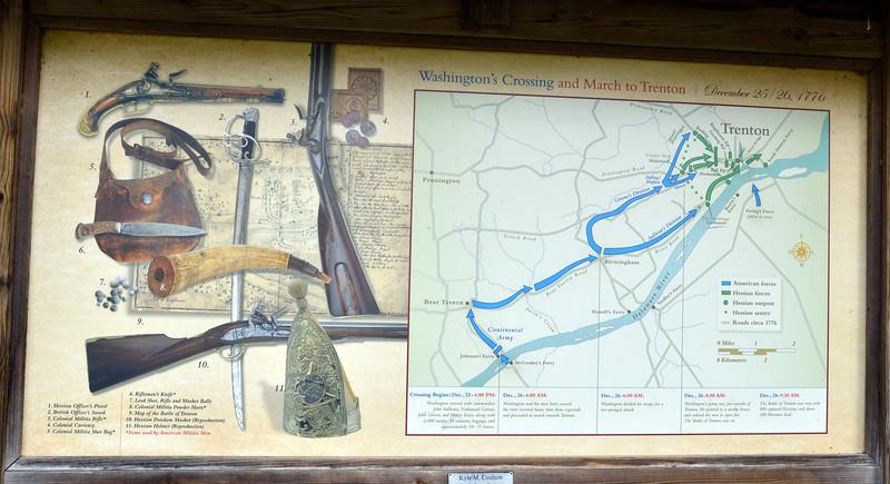PA-WC57-2020.9.15#0713.1. Interpretive sign. Washington Crossing Historic Park. Bucks County Pennsylvania.