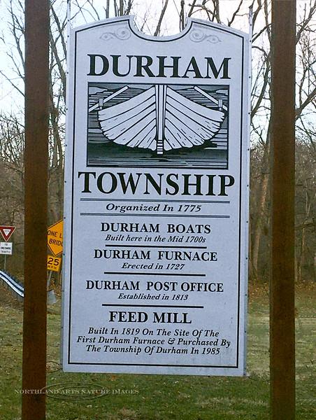 PA-D-2021.1.22#5411.2. Interpretive sign for historic Durham Township, Bucks County Pennsylvania.