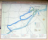 PA-WC54-2020.9.15#0737.1. Historic map of how the battle of Trenton took place. Washington Crossing Historic Park. Bucks County Pennsylvania.